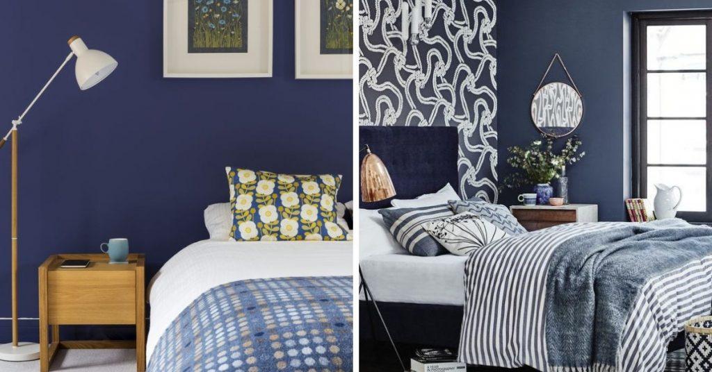 2019 Yatak Odası Trendleri arasında koyu renklerde yer almaktadır.
